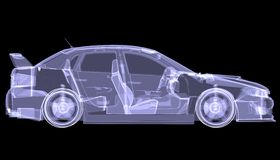 X-ray concept car Stock Photo