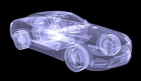X-ray concept car Royalty Free Stock Image