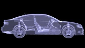 X-ray concept car Royalty Free Stock Images