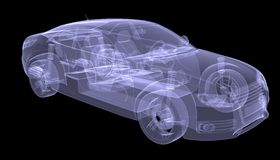 X-ray concept car Royalty Free Stock Photo