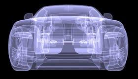 X-ray concept car Royalty Free Stock Photo