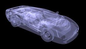 X-ray concept car Stock Image