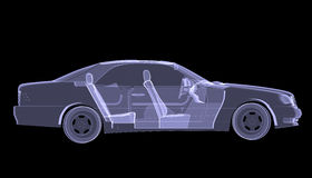 X-ray concept car Royalty Free Stock Photography