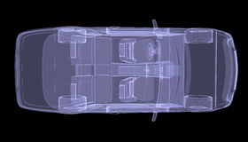 X-ray concept car. Top view Royalty Free Stock Image