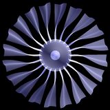 X-ray concept jet engine Royalty Free Stock Images