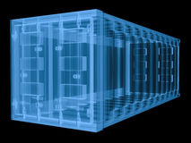 X ray container isolated on black Royalty Free Stock Image