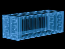 X ray container isolated on black Royalty Free Stock Images