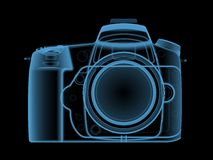X-ray of a digital photo camera. Stock Photography