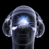 X-Ray - DJ - Headphones Stock Image