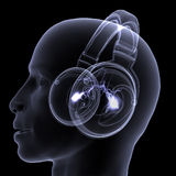 X-Ray - DJ - Headphones Royalty Free Stock Photos