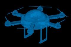 X ray drone Royalty Free Stock Photo