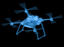 X ray drone isolated on black Stock Image