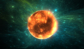 X-ray emission from erupting young star. Illustration Royalty Free Stock Image