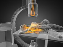 X-ray examination made in 3D Royalty Free Stock Photos