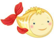 X-ray fish cartoon character. Funny x-ray fish cartoon character, isolated Royalty Free Stock Images