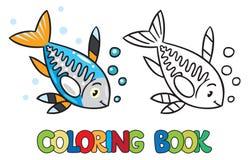 X-ray fish coloring book Stock Photos