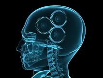 X-ray head with gears vector illustration