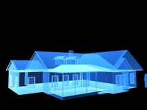 X-ray house. 3d rendered illustration of a transparent house Royalty Free Stock Images