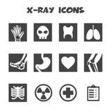 X-ray icons. Mono vector symbols Royalty Free Stock Photography
