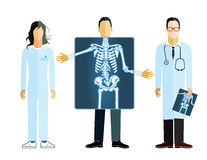 X-ray illustration Royalty Free Stock Photography