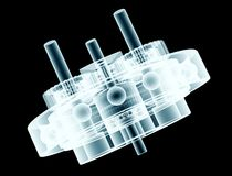 X-ray image of gearbox Royalty Free Stock Images