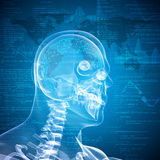 X-ray image of a man's head Royalty Free Stock Images