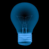 X ray light bulb isolated on black Royalty Free Stock Photo
