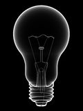 X-Ray lightbulb isolated on black. Background. High resolution 3D image Royalty Free Stock Image
