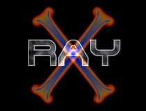 X-ray logo. 3d rendering Stock Images
