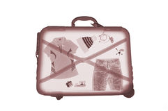 X-ray luggage Stock Photo