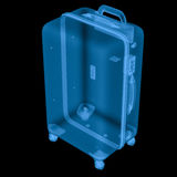X ray luggage isolated on black Stock Image