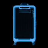 X ray luggage isolated on black Stock Images