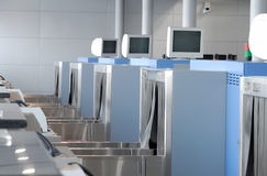 X-ray machine for luggage check Stock Photo