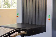 X-Ray Machine for Luggage Check Royalty Free Stock Photography