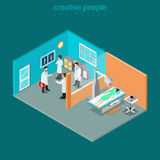 X-ray medical diagnostics healthcare interior flat isometric Stock Image