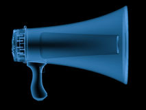 X ray megaphone isolated on black Royalty Free Stock Images