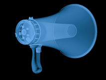 X ray megaphone isolated on black Stock Images