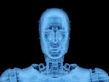 X-ray robot or cyborg. 3d rendering x-ray robot or cyborg on black background Stock Photos