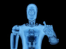 X-ray robot or cyborg. 3d rendering x-ray robot or cyborg on black background Stock Photography