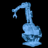X ray robotic arm  on black. 3d rendering x ray robotic arm  on black Stock Image