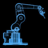 X ray robotic arm. 3d rendering x ray robotic arm isolated on black Royalty Free Stock Photography