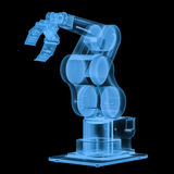 X ray robotic arm. 3d rendering x ray robotic arm isolated on black Stock Photo