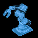 X ray robotic arm. 3d rendering x ray robotic arm isolated on black Royalty Free Stock Image