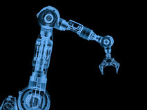 X ray robotic arm isolated on black. 3d rendering x ray robotic arm isolated on black Stock Image
