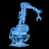 X ray robotic arm isolated on black. 3d rendering x ray robotic arm isolated on black Stock Photography
