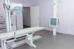X-ray room in a hospital ER operating room Stock Images