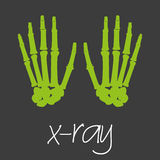 X-ray science design banner and background eps10 Royalty Free Stock Images