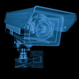 X ray security camera or cctv camera. 3d rendering x ray security camera or cctv camera isolated on black Royalty Free Stock Photo