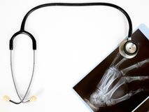 X-ray and stethoscope Royalty Free Stock Images