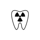 X-ray tooth line icon. Dental and medicine, radiation sign vector graphics, a linear pattern on a white background, eps 10 Royalty Free Illustration